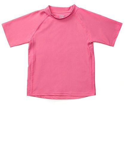 Leveret Short Sleeve Baby Girls Rash Guard Kids Rashguard (Size 4 Toddler, Pink) ()