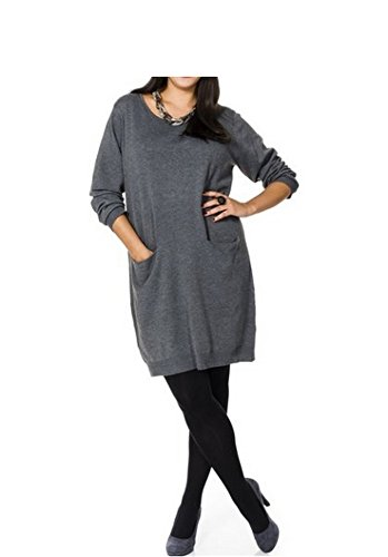 Sheego - Vestido - para mujer gris