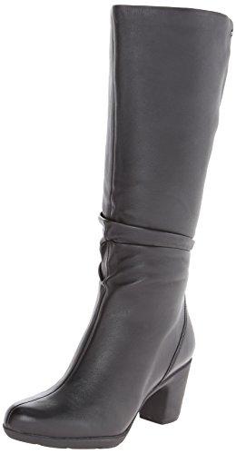 Clarks Women's Lucette Coco Snow Boot,Black Leather,9 M US