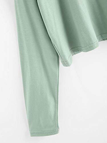 Chemise Green Xmiral Col Manches Body Rond Longues Femme Chemisier Fleurs OwqF1ExwT