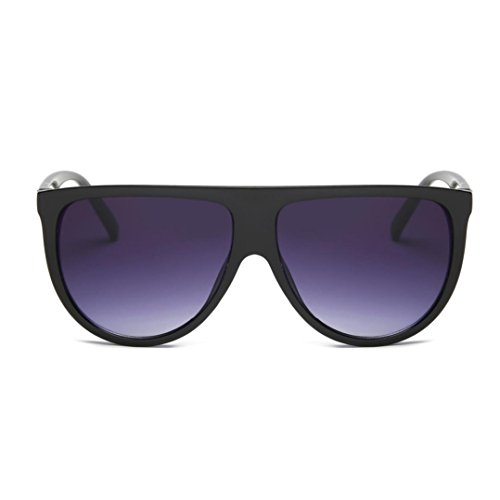 OverDose, Unisex Lunettes De Soleil Yeux De Chat à Verres Plats Et Monture CarréE Aviator Mirror Lens Sunglasses (D)
