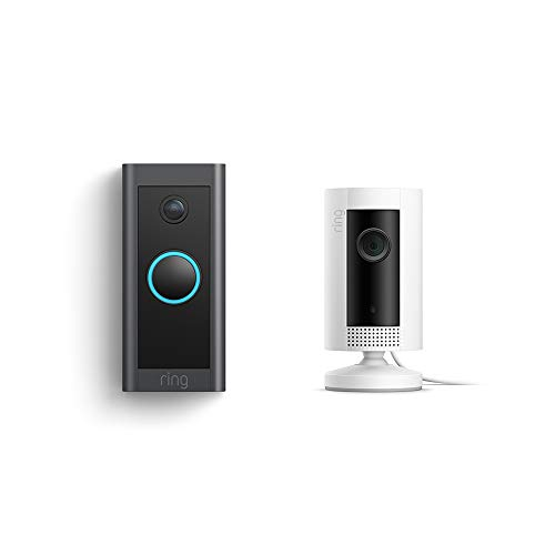 Ring Video Doorbell Wired bundle with Ring Indoor Cam (White) (Color: White, Tamaño: 1 Cam)