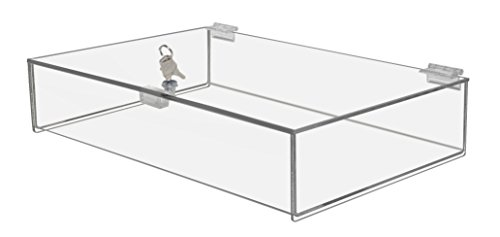 Marketing Holders - Rectangular Locking Countertop Tray is 3