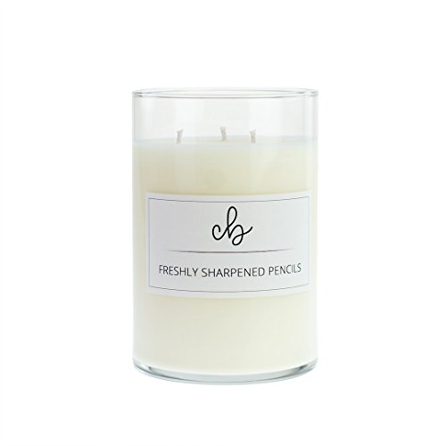 CandleBox Store Freshly Sharpened Pencils Handmade Soy Wax Candle, Cedar and Sawdust Scented, 23.1 Ounces, 88 Hours Burn Time, (Large) (Cedar Large Center Garden)