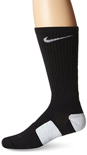Nike Women's 4-6/Youth 3Y-5Y Elite Crew Basketball Socks Black/White SX3629-007