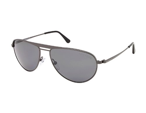 Tom Ford FT0207 William Sunglasses 08D Shiny Gumetal (Tom Ford William)