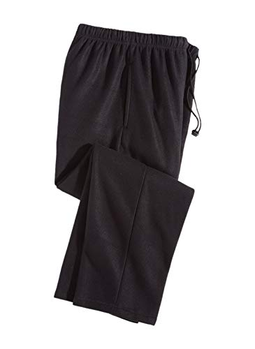 Men's Fleece Lounge Pants, Color Black, Size Extra Large (1X), Black, Size Extra Large (1X)