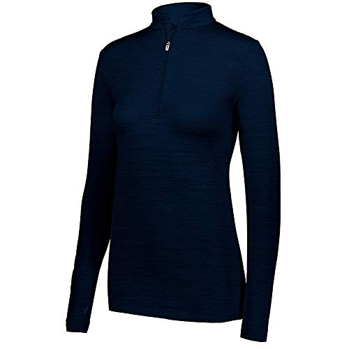 Holloway LDS STRIATED 1/2 ZIP PULLOVER NAVY M