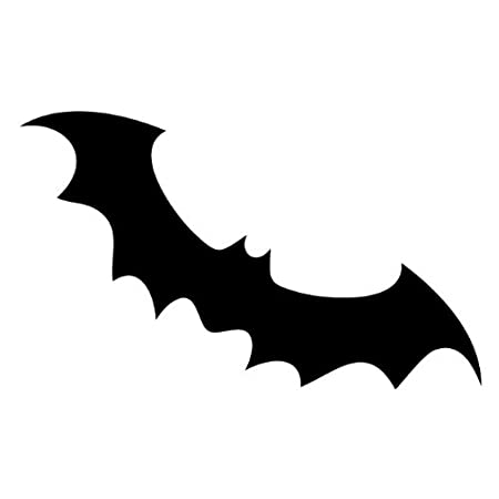 kowalla halloween bat silhouette wide vinyl wall decals 15 x 10 in