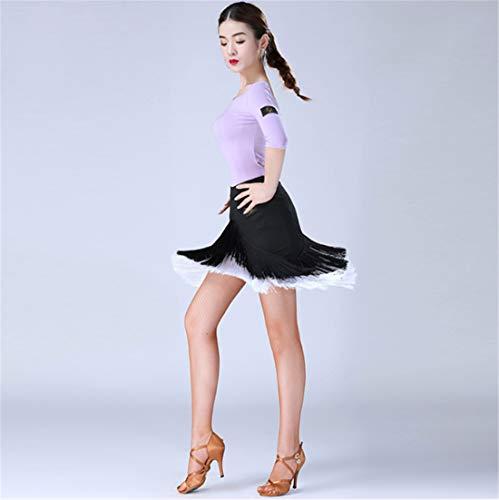 Strato Da Concorrenza Donna Nero Pratica Costumi Tre Latina Completo Nappa Doppio Uomo Lunga Danza Manica Bianca w6xYwFqp