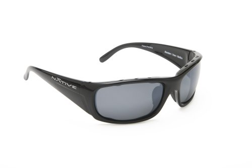 Native Eyewear Bomber Sunglasses, Iron with Silver Reflex (Gray) Lens -