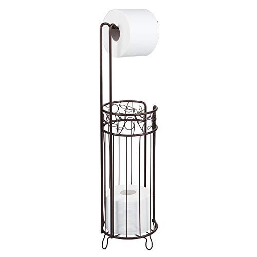 iDesign Twigz Bath, Free Standing Toilet Paper Roll Holder for Bathroom Storage - Bronze (Holder Stand Toilet)