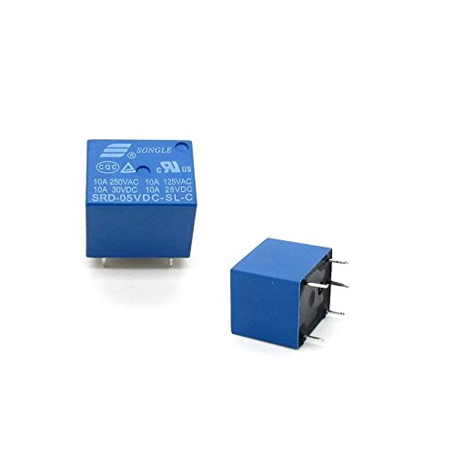 10pcs SRD-DC5V-SL-C 5V 10A Coil power 0.36W 5Pin Power Electromagnetic Relays Mechanical Relay