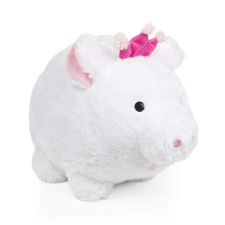 Jumbo Plush Piggy Bank Princess, White, Hug Me and Fill Me! (Bank Jumbo Slot)