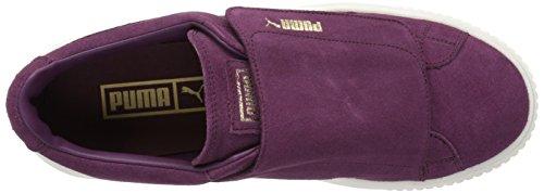 PUMA Women's Suede Platform Strap WN Sneaker Dark Purple-dark Purple-marshmallow discount fashion Style recommend online real cheap price eBUxB