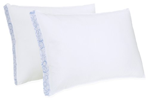 BioPEDIC Sleep Styles Extra Firm Density Gusseted Sidewall Bed Pillow, King, White, 2-Pack - Firm King Pillow