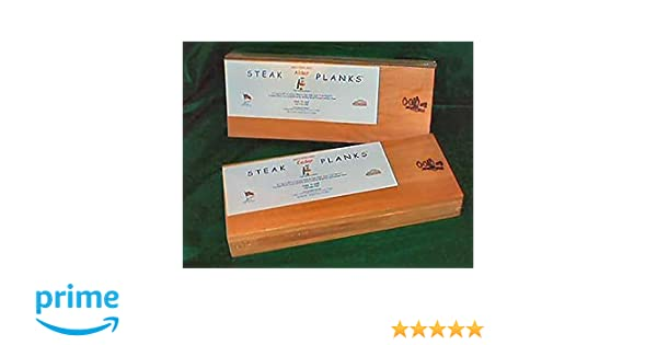 Western Red Alder Steak Planks 6 x 15 x 1/2 inch thick (Pack of 4)
