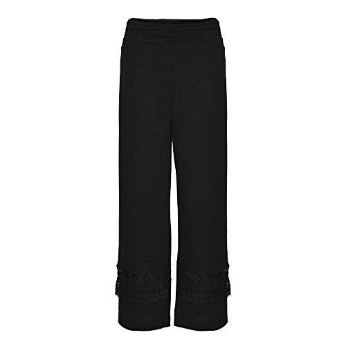 Pantaloni Yoga Donna Dragon868 Vita Pizzo Pantalone Casual Palazzo Con Donna Nero Alta Larghi xl S Trasparenti a8a4Ifwq