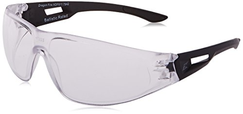 Edge Tactical Eyewear XDF611 Dragon Fire Matte Black with Clear Lens