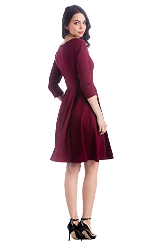 Lilac McCall Fit And Flare Maternity Dress - Marsala(Red) - Medium by Lilac (Image #3)