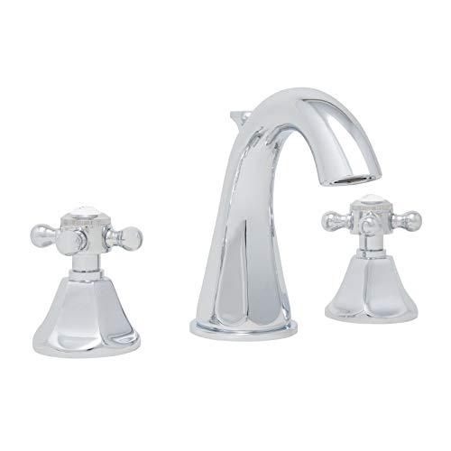 - Mirabelle MIRWSCBR801CP Boca Raton 1.2 GPM Widespread Bathroom Faucet with Cross Handles