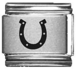 - Horse Shoe Laser Italian Charm