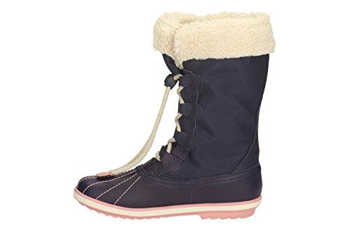 Clarks Mädchen außerschulischen fabyou GTX Inf aus gefettetem Leder Stiefel in Marineblau