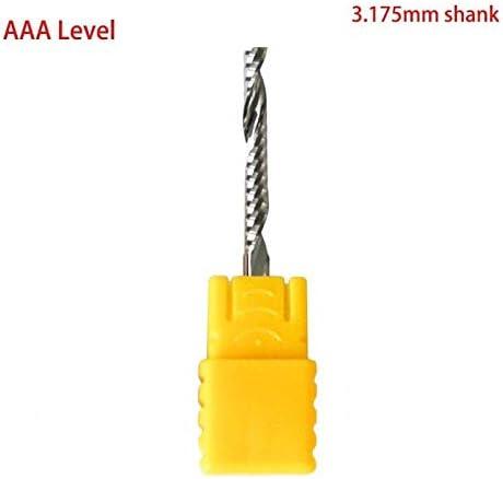 NO LOGO 1pc AAA Ebene 3,175 mm Schaft Acryl Gravur Schaftfräser High Precision 1 Flute Spiral-Fräser CNC-Werkzeug Acryl MDF PVC Schneiden (Größe : 3.175x1.5x12)