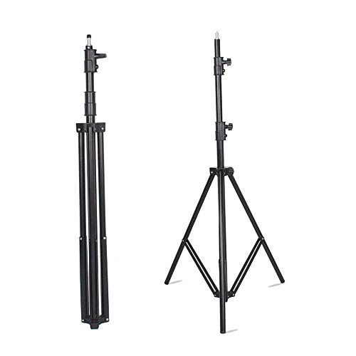 VILTROX LS-190 Light Stand 75/6 Feet 190CM Photography Light Stand for LED Light, Flash,Relfectors, Softboxes, Umbrellas, Backgrounds