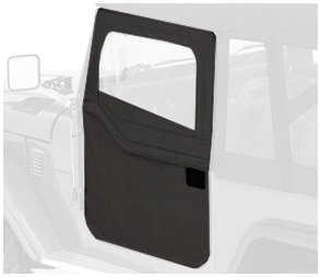 Bestop 51774-15 Black Denim 2-Piece Door Set for 1964-1984 Toyota Landcruiser/FJ40 - Front