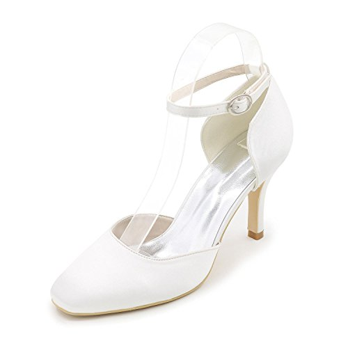 L@YC Women's Heels Spring Summer Fall Winter Glitter Wedding Party & Evening Dress Stiletto HeelRhinestone Applique Imitation Pearl Stitching White OijuBM9J