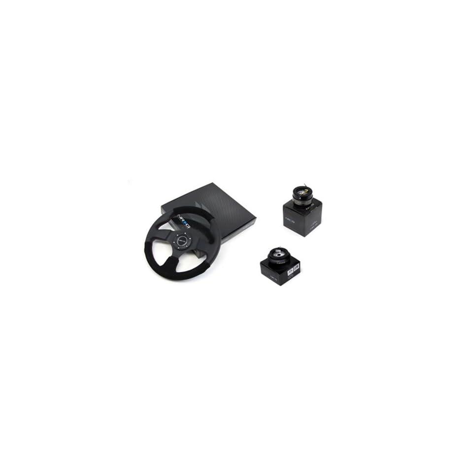 87 96 Toyota Pickup NRG 320MM Steering Wheel + Hub + Quick Release Black