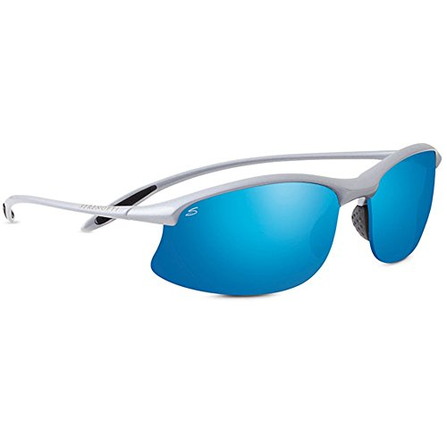 Serengeti 8123 Maestrale Sunglass, Metallic Silver Frame Lens, Polar PHD 555nm Blue - Serengeti Sport Sunglasses Phd Polar