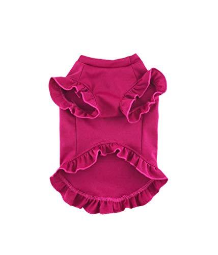 Fuchsia Ruffled Dress, Ponte Roma Stretch Knit, Dog Top, Dog Clothing, Dog Fashion, Dog Apparel, Dog dress