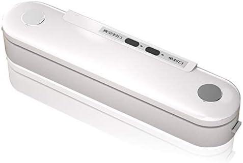 CWC 小型自動フードシール機真空のシーリング機械ABSプラスチック自動ワンボタン操作真空保存 (Color : White)