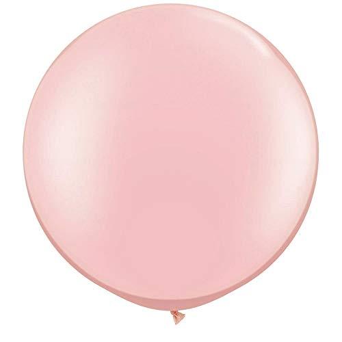 NYKKOLA 36 Inch Giant Latex Balloon (Premium Helium Quality),6 Pack Big LightPink Balloons -