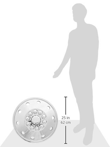 Dicor SHAG95 19.5 Stainless Steel Wheel Cover, (Pack of 4) by Dicor (Image #1)