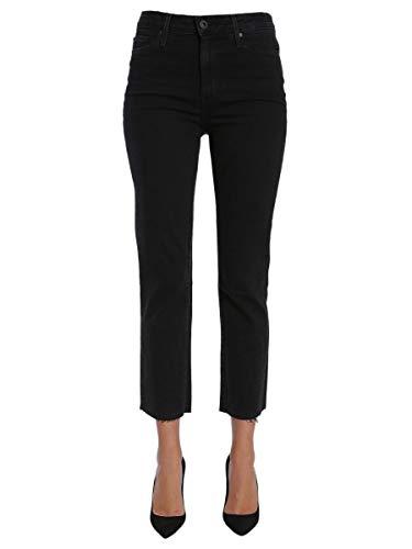 Algodon Mujer 3182b804750 Paige Negro Jeans qAtqwByd