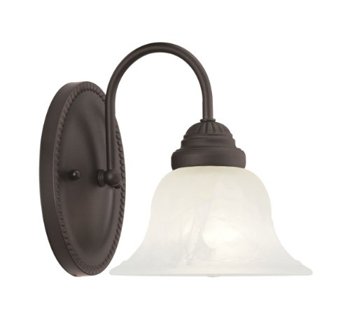 Livex Lighting 1531-07 Edgemont 1-Light Bath Light, Bronze - Edgemont Bath Light