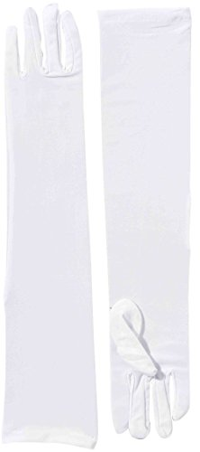 White Gloves Plus (Forum Novelties Long Nylon Adult Gloves,)