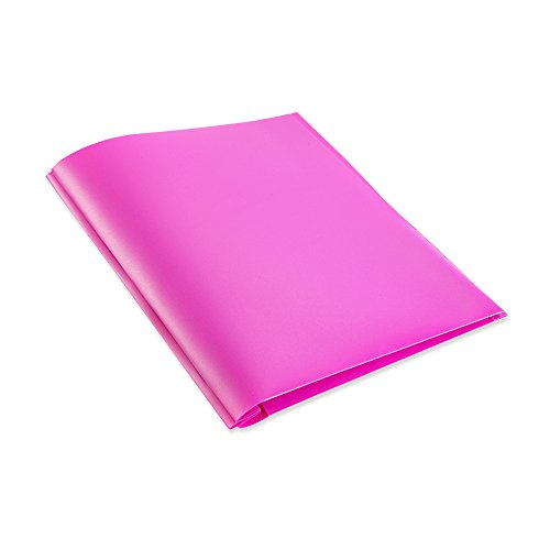 COMIX 2 Pocket Letter Size Poly File Portfolio Folder with Three-Prong Fastners - 12 Pack (Pink Violet Purple)