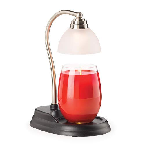 CANDLE WARMERS ETC Aurora Candle Warmer Lamp for Top-Down Candle Melting, Pewter ()