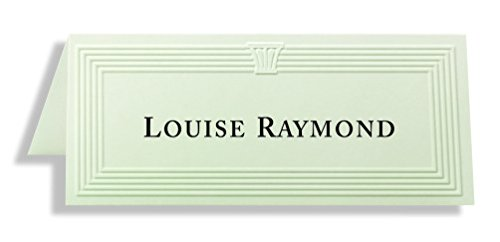 First Base Capital Design Embossed Place Cards (FST75519) -