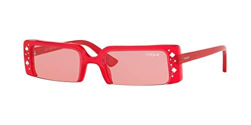 VOGUE Women's 0vo5280sb Rectangular Sunglasses, Opalescent Red, 57.1 mm ()