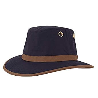 Tilley TWC7 Outback Waxed Cotton Hat - Navy-Tan  Amazon.co.uk  Clothing 72c013b0f74