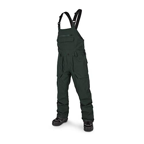 Volcom Men's Roan Bib Overall Snow Pant, Dark Green, Medium