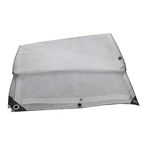 Tarps SUBBYE Waterproof Heavy Duty Tarpaulin, 2 Layers Transparent Rainproof Cloth, Greenhouse Sheet Covers, 300g/m² (Size : 3×4M)