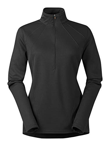 Kerrits Chill Chaser Zip Neck Black Size: Medium