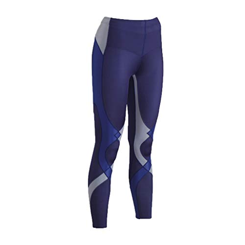 CW-X Women's Mid Rise Full Length Stabilyx Compression Legging Tights, Navy/Grey/Blue Limited Edition, X-Small by CW-X (Image #5)