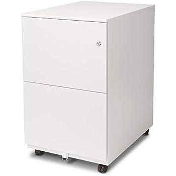 Amazon Com Aurora Fc 102wt Modern Soho Design 2 Drawer